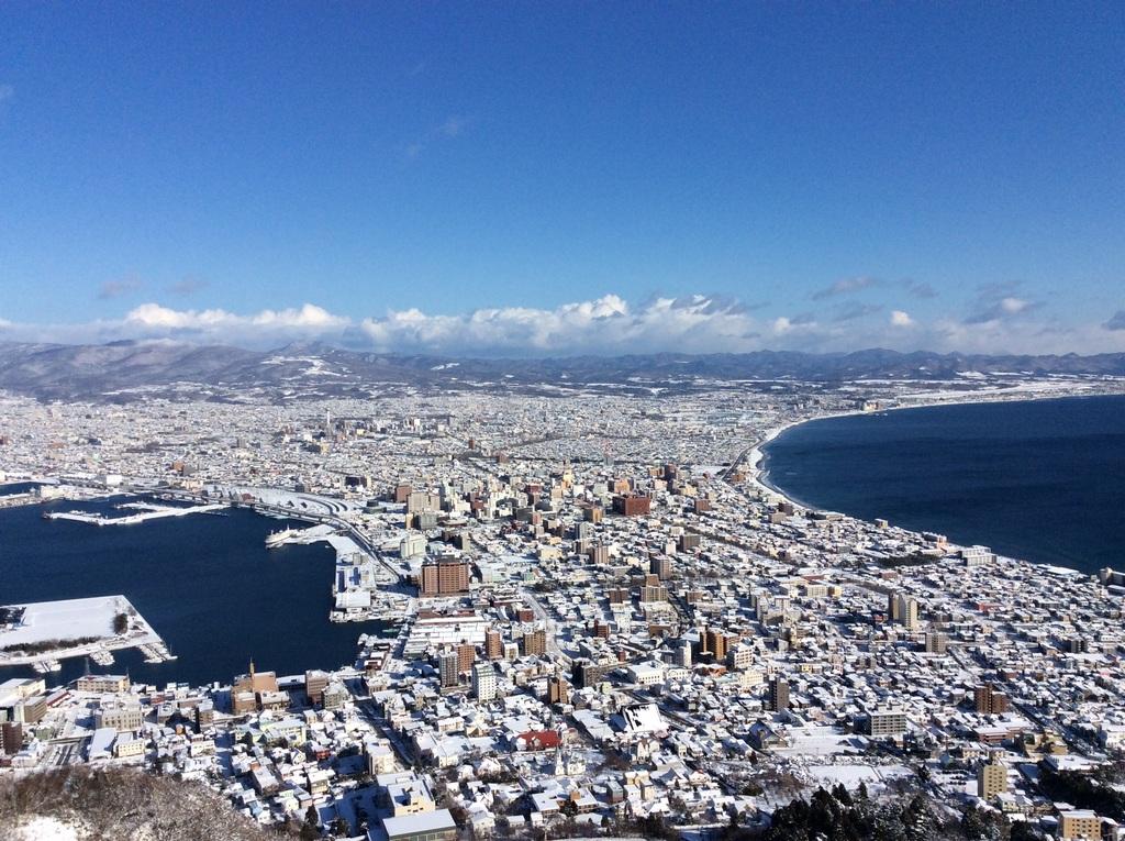 函館山:冬景色