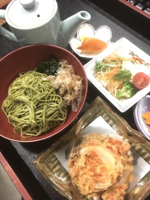 デイユース昼食一例(静岡茶そば)