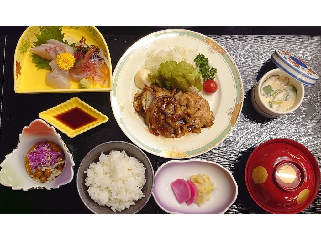 生姜焼き&お刺身定食