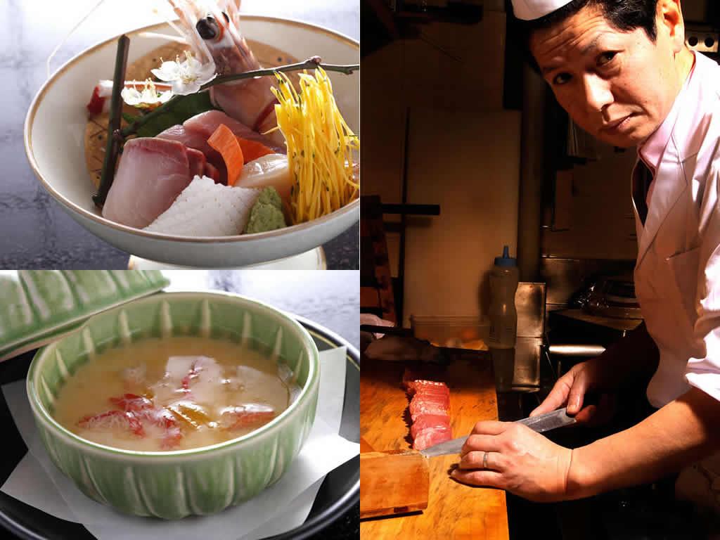 料理長稲木順英 良質の食材を仕入れ入念に調理し伊豆ならではの美味い料理をお出しいたします。