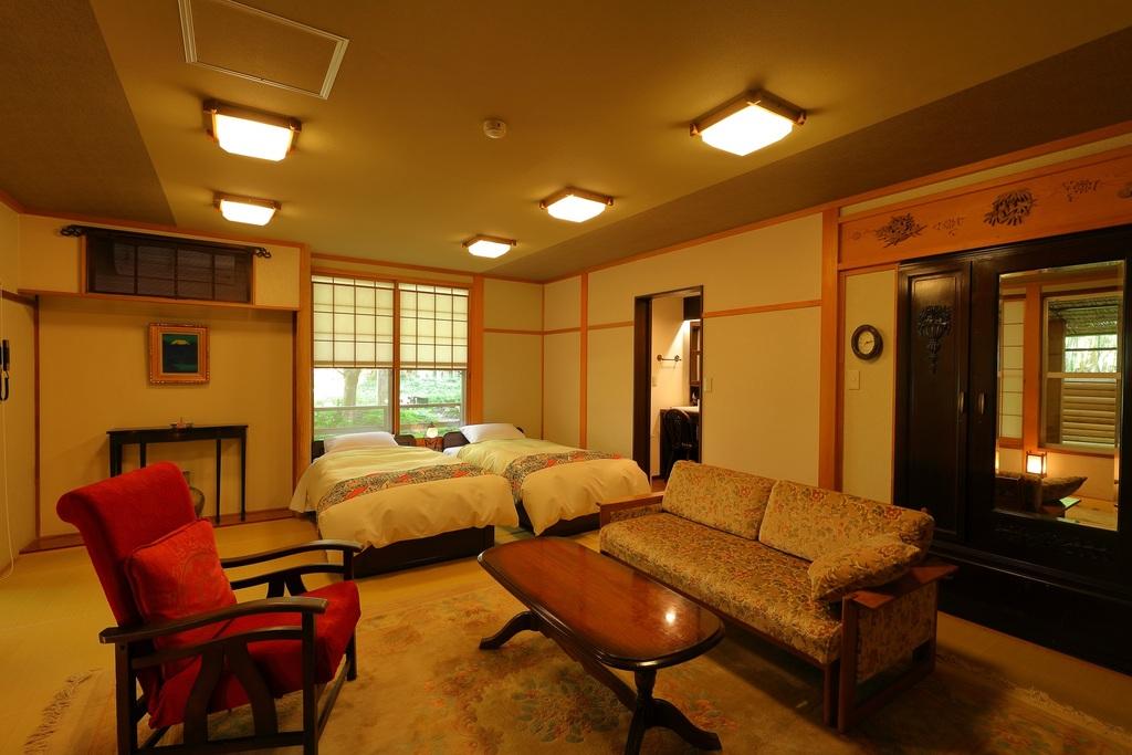 La room 露天風呂付和室(畳ベッド使用)