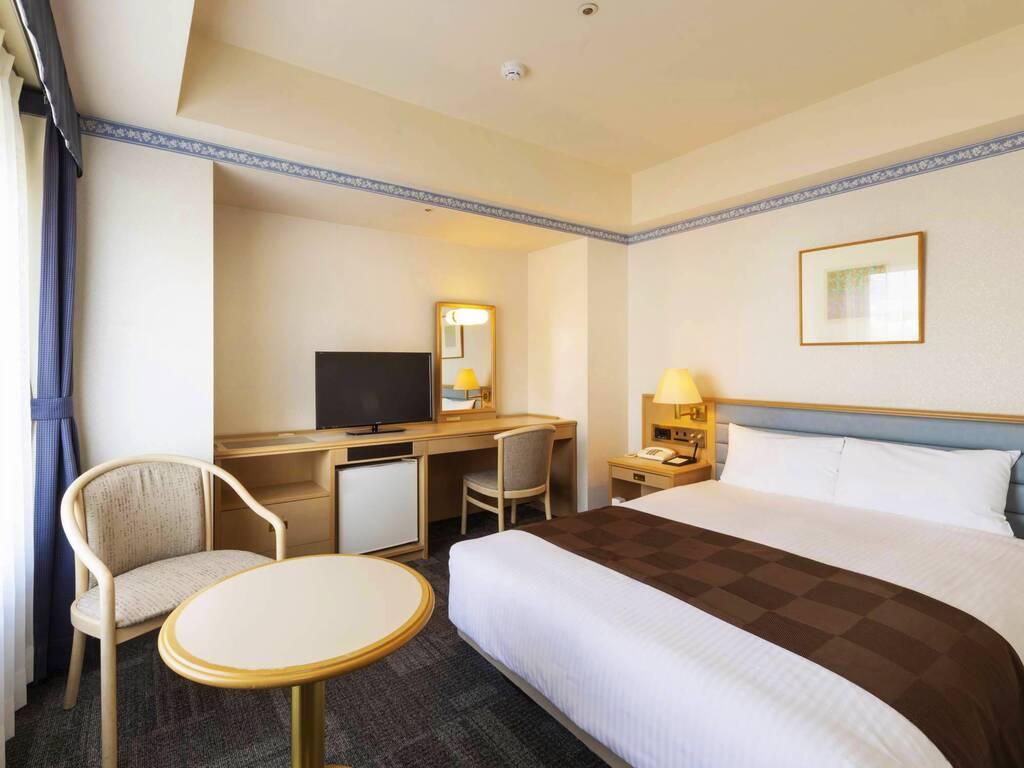 【客室タイプ】セミダブルルーム[広さ21�u/ベッド幅140cm]全室加湿空気清浄機完備