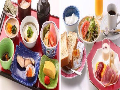 和食または洋食をお選びいただきます
