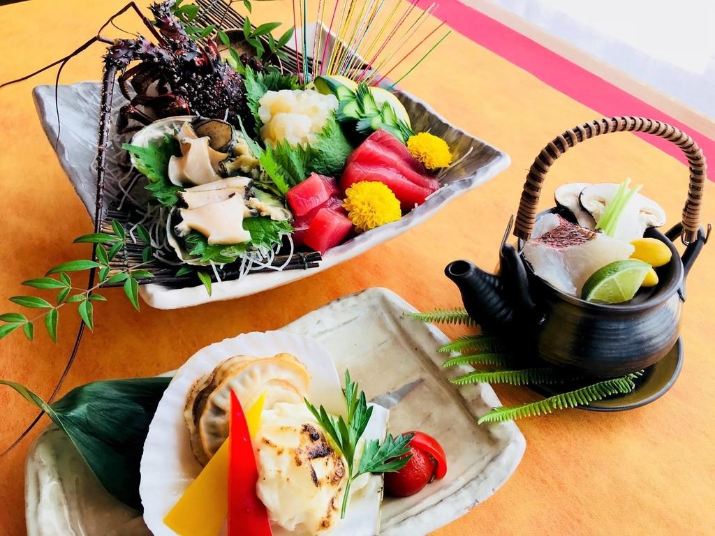 【秋の味覚会席】お造り 焼き物 止椀(お食事一例)