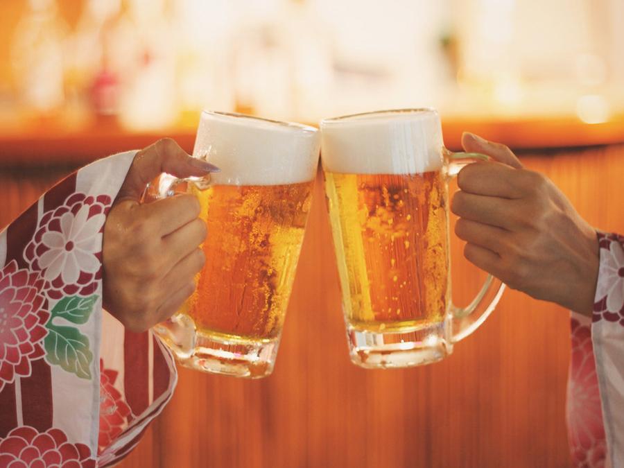 冷えたビールが格別!