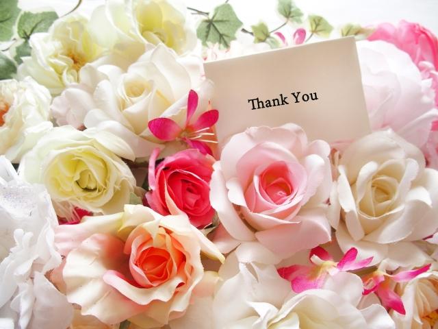 感謝の気持ちをこめて。