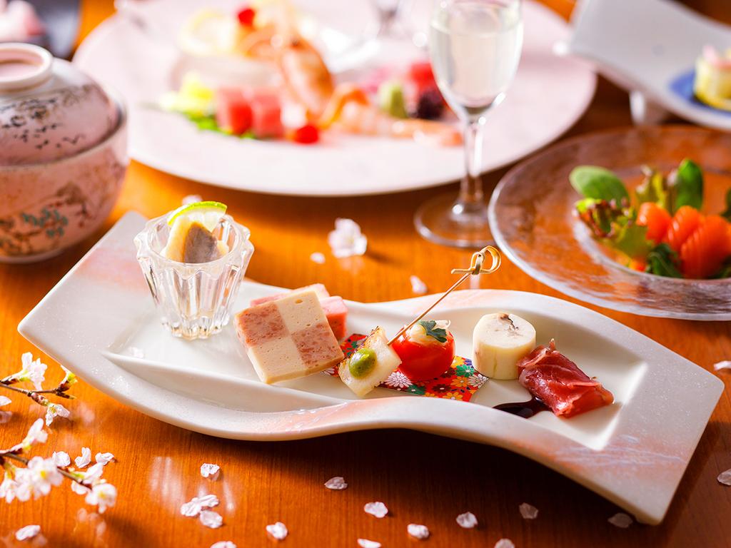 【蔵・懐石一例】旬の食材を使った前菜からお楽しみ下さい。