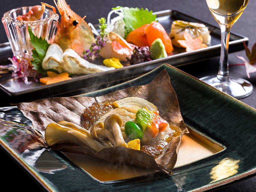 【蔵・懐石一例】華やかで繊細なお料理を存分にご賞味下さい。