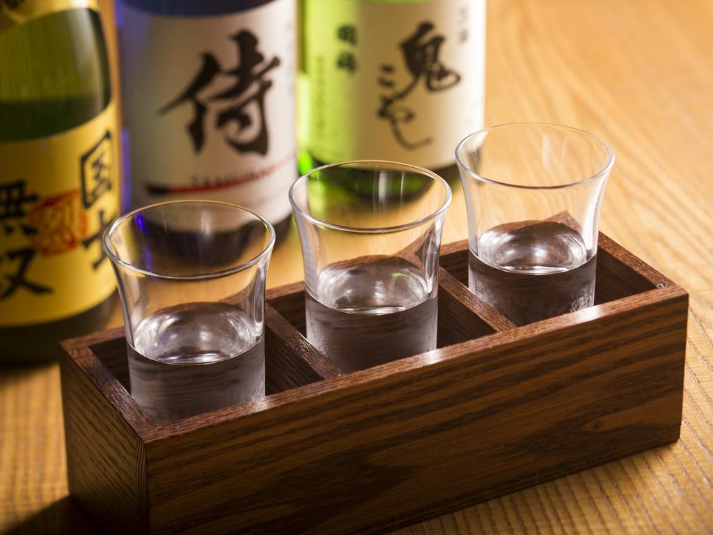 当館ならではの本質を求めるおもてなし利き酒セット※イメージです