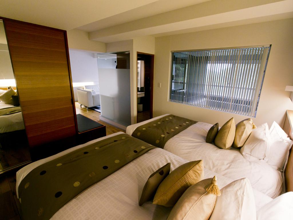 【ジュニアスイート】モダンなデザインながら、寛げるベッドルーム
