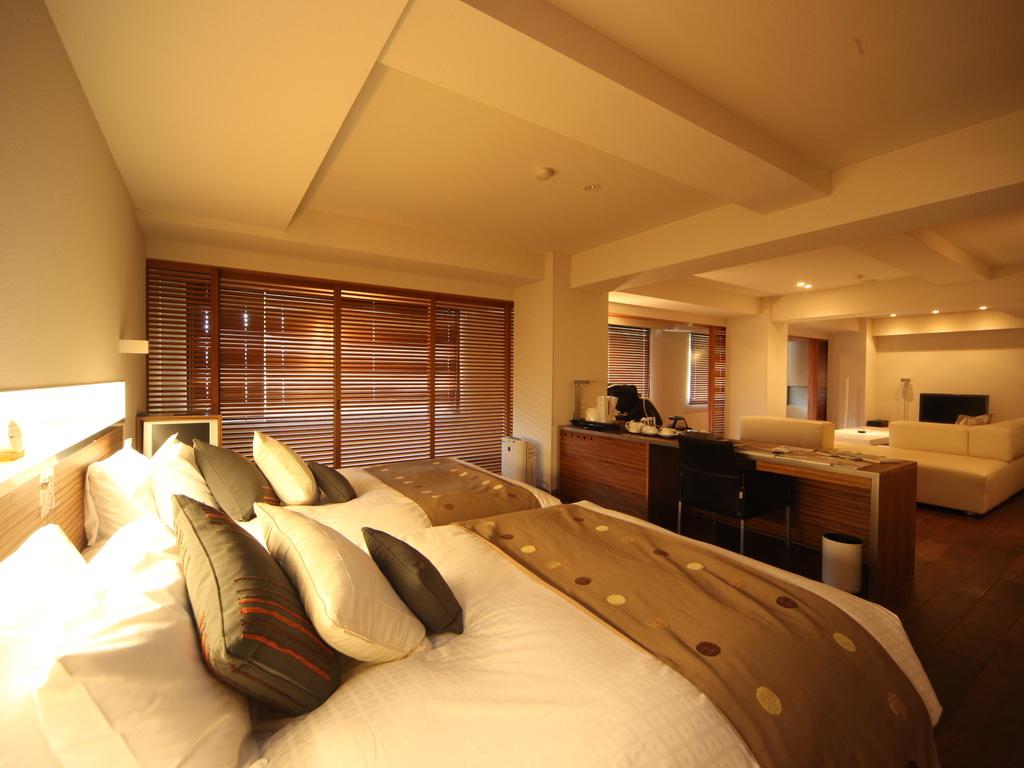 【エグゼクティブスイート】ベッドスペース。心地よい睡眠をお約束いたします。
