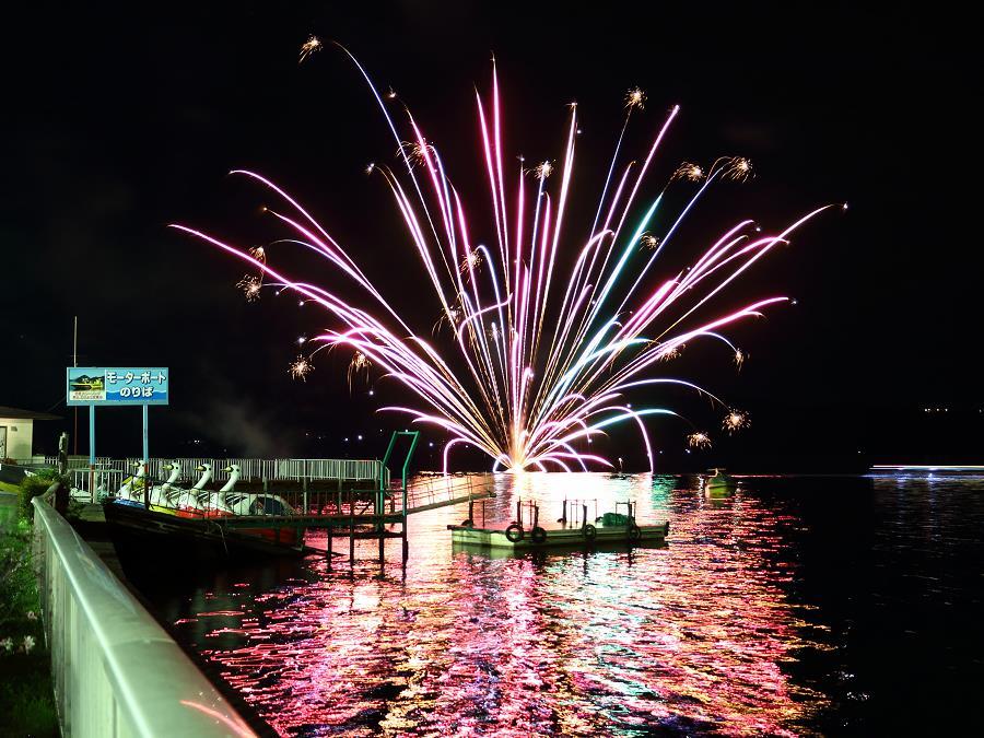 洞爺湖ロングラン花火大会/洞爺湖の夏〜秋の代表的なイベントです。