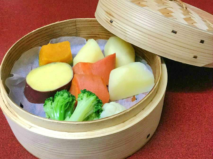 北海道産野菜のせいろ蒸し