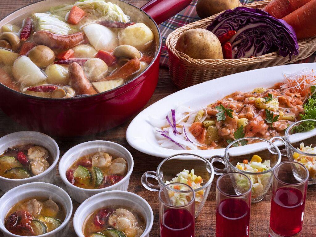 秋の味覚や地元食材をふんだんに使用したメニューもご用意しております