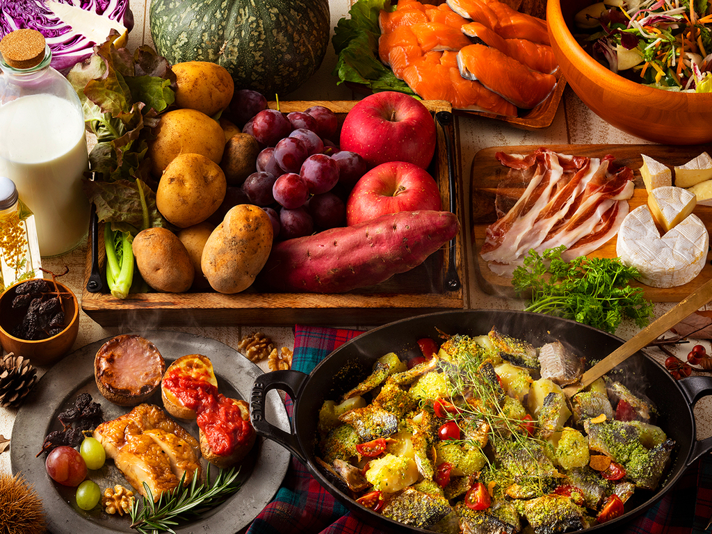 【9〜11月・夕食ブッフェ】洞爺の秋の実りがブッフェに勢ぞろい!期間限定メニューをお楽しみ下さい。