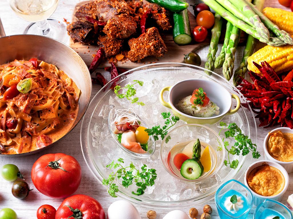 【夕食ブッフェ・2019年夏】期間限定の旬のお料理をたっぷりとお楽しみ下さい(変更の場合あり)