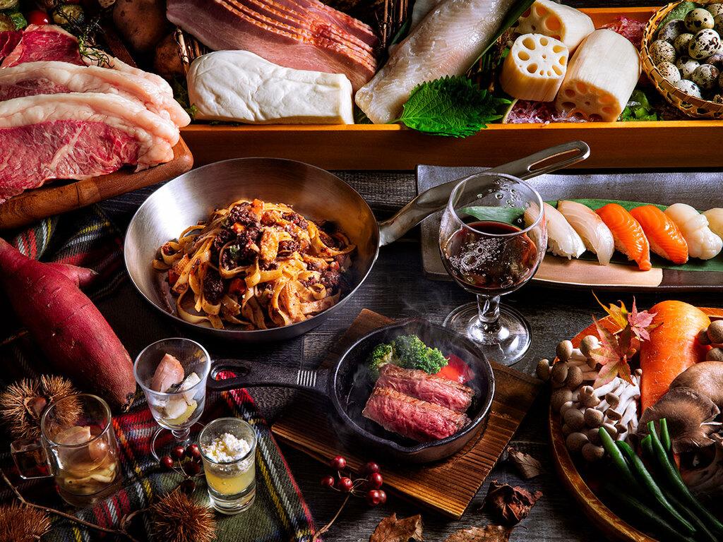【ブッフェ・2021年秋】「秋の味覚」を心行くまで愉しむ。和・洋・中・製菓の料理長が奏でる秋ブッフェ