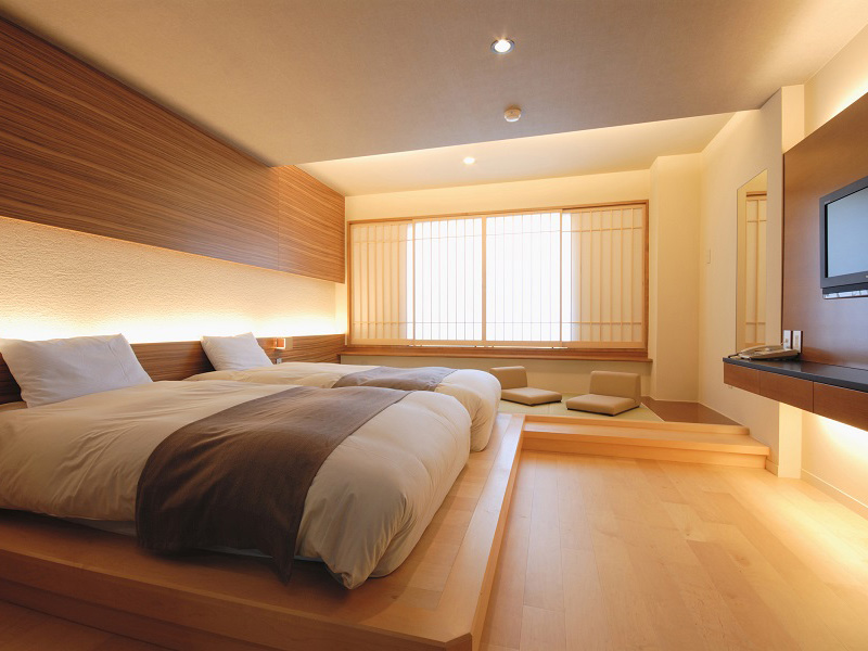 【和モダン】畳にローベッドを配したお部屋。のんびり寛げます