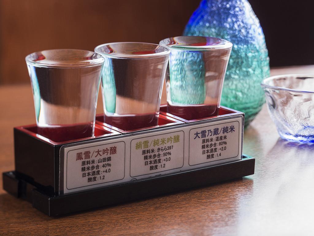 人気の地酒を一度に楽しめる「利き酒セット」(イメージ)