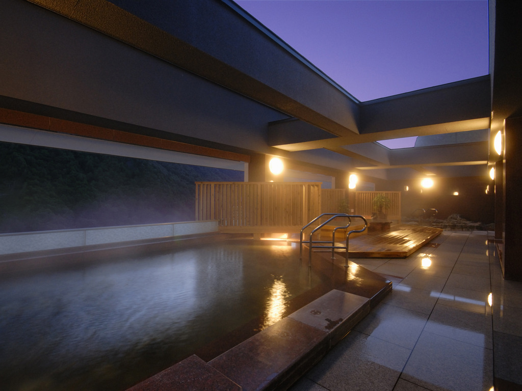 【天空露天 朝陽山】夜の入浴もおすすめです
