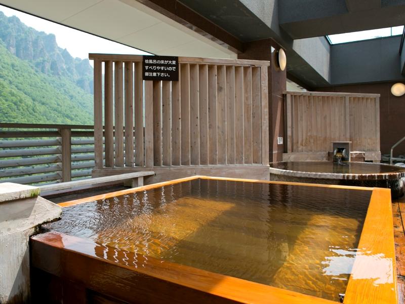 【天空露天 朝陽山】層雲峡の渓谷美を一望できる露天風呂