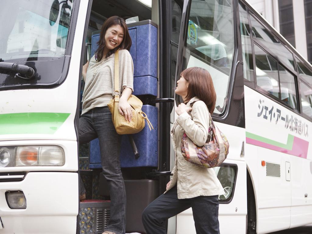 札幌・旭川発着の無料送迎バス運行中!