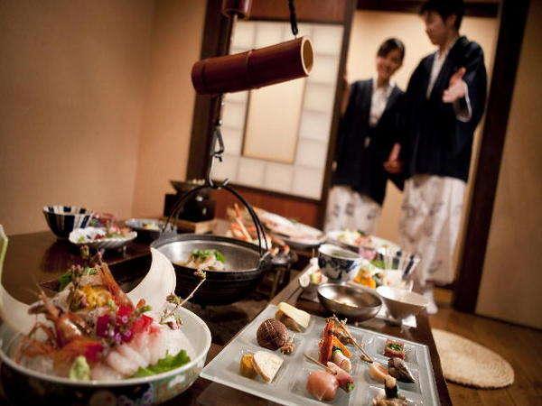 【食事処 北番屋】個室風の囲炉裏端でゆっくりお食事を楽しめる至福の空間
