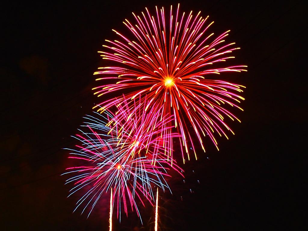 夏の夜空を彩る打ち上げ花火(イメージ)