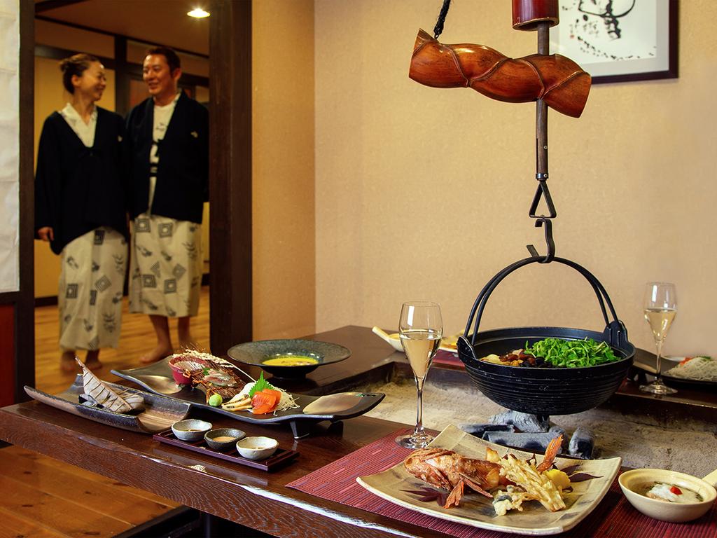 【お食事処 北番屋】個室風の囲炉裏端でお食事をお楽しみいただけます(イメージ)