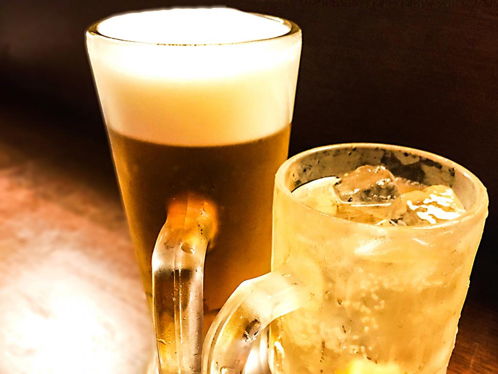 ビール、焼酎、サワーなど、お好きなドリンク飲み放題!