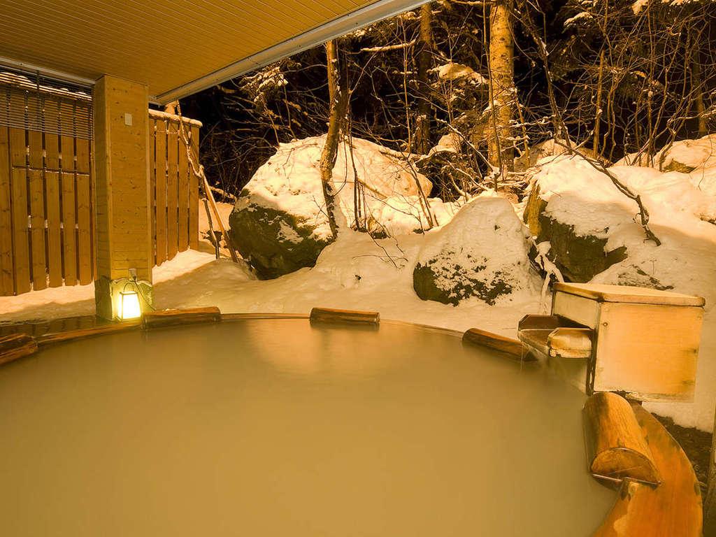 【大自然の湯「鳥の声」】雪見露天は心を和ませます★寒い冬には、あたたかい温泉がイチバン