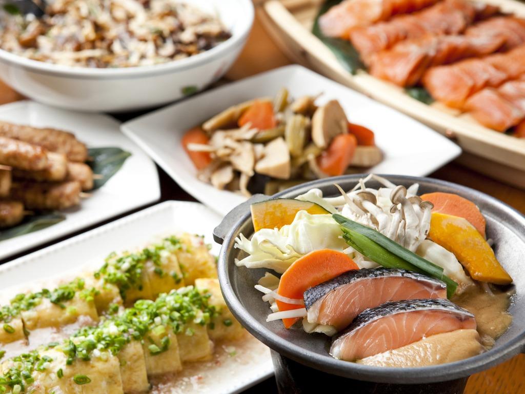 和食をお好みの方にもピッタリ!バイキングは和洋中ご用意しています(一例)