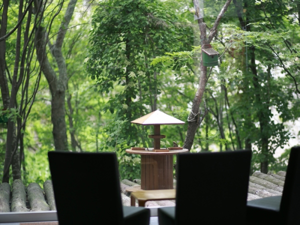 【喫茶 木もれ日】大きな窓からは四季折々の景色をお楽しみいただけます