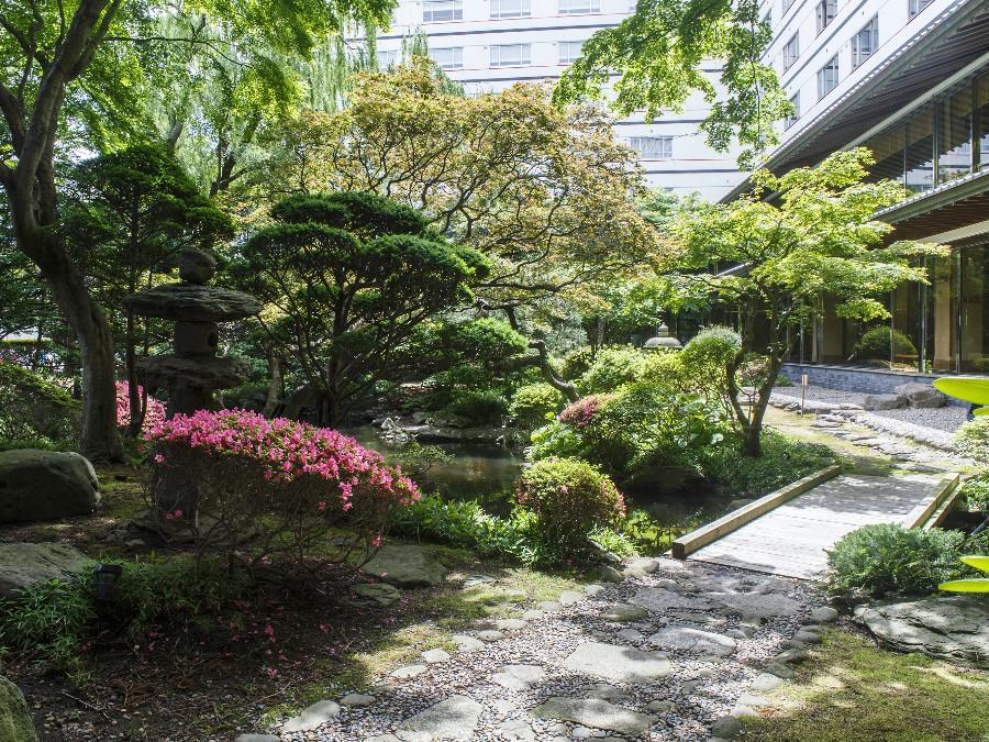 四季折々の自然をみせる、日本庭園。