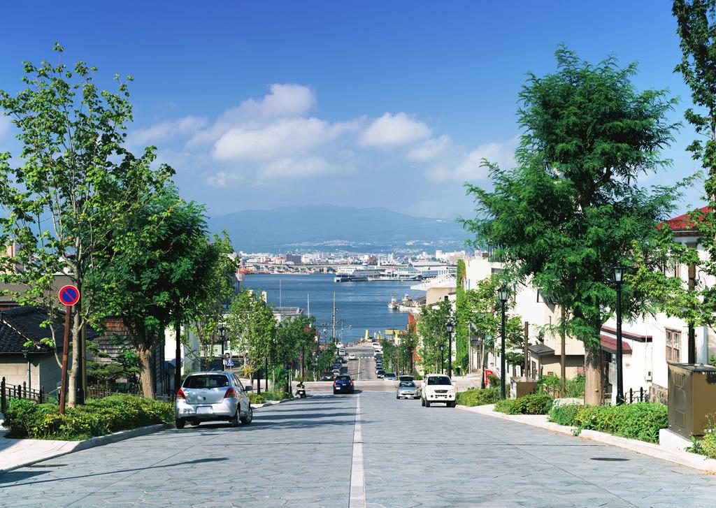 八幡坂〜八幡宮が、文化元年に奉行所の拡張に伴い、移されてきたことが由来。