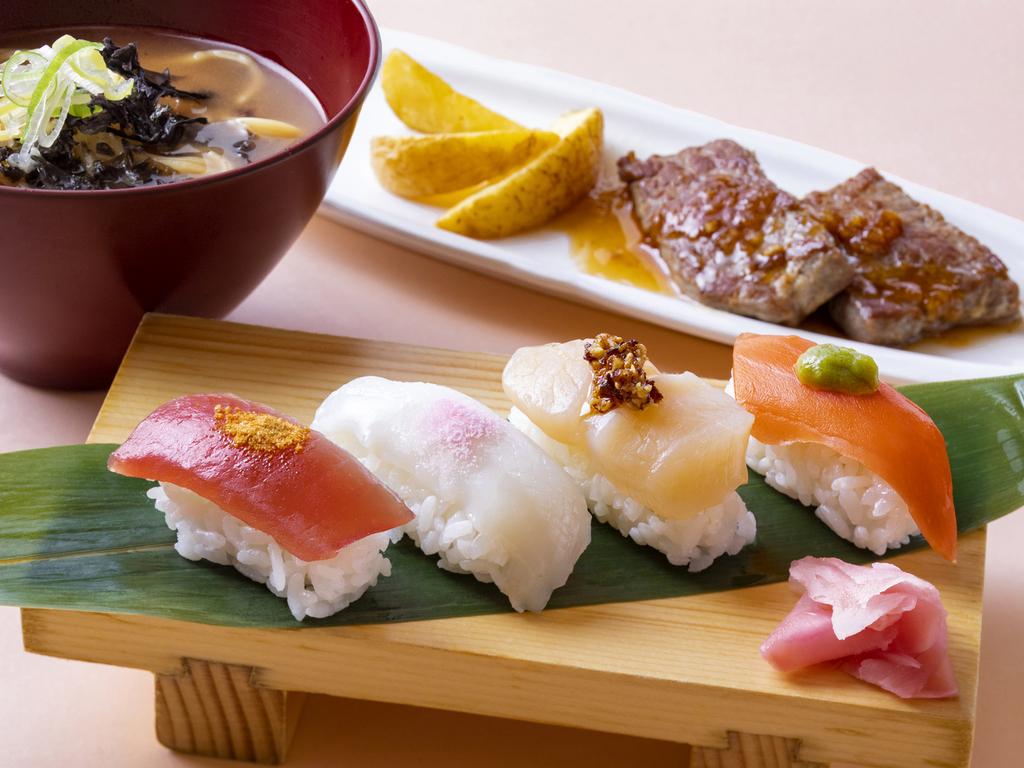【2019春バイキング】5種類の調味料で味わう「寿司4点盛り」など※イメージ