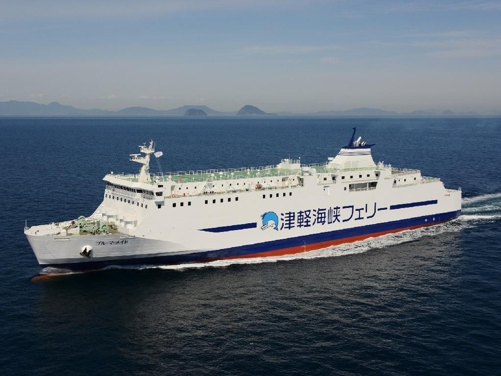 フェリーに乗って函館へ。船旅を楽しみながら当館へお越しください。