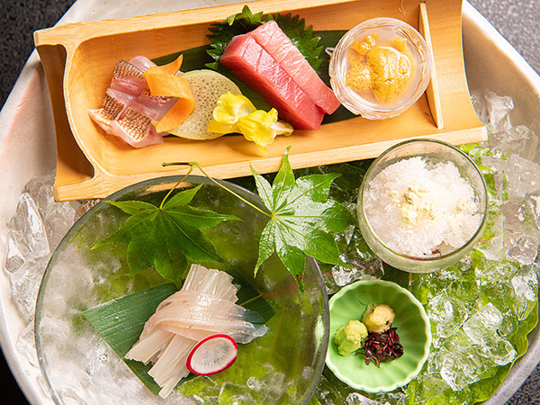 【2021年夏のお膳】OTSUKURI『港町函館夏祭り』イカや本マグロ等、2種のお醤油で※漁の関係上変更の場合有
