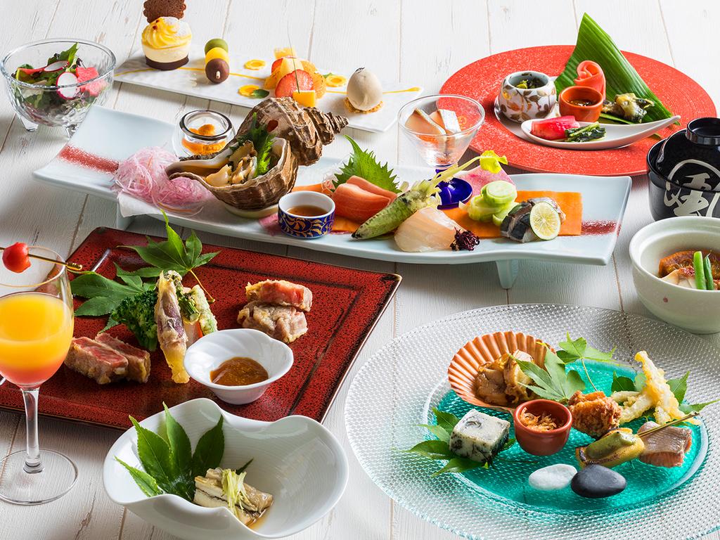 【もりの風茶寮・2018年秋】北海道と兵庫県をテーマにした全12品ほどのお献立をご用意致します。