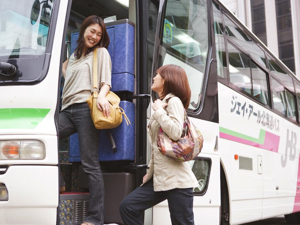 【送迎バス】札幌駅からは無料、新千歳空港からは片道1000円でご利用頂けます(要事前予約)