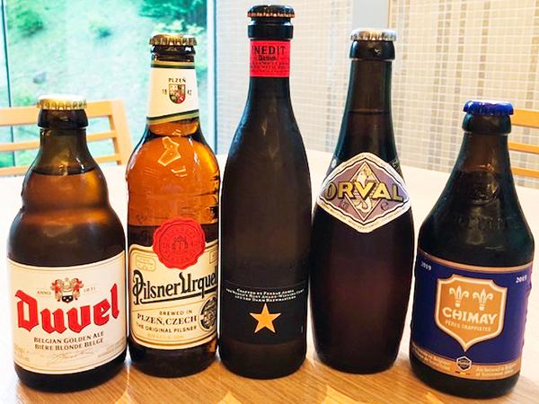 【世界のビール】シメイブルーやイネディット等人気のビールをご用意しております。(画像はイメージ)