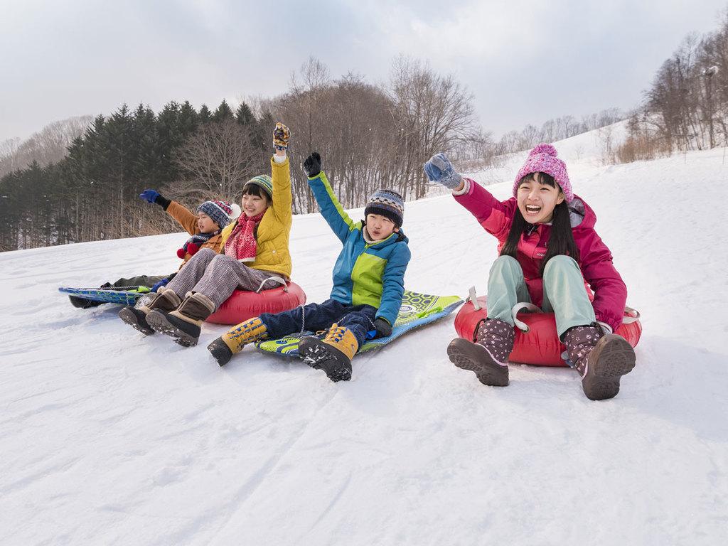 【冬】北湯沢スノーパーク。人気のスノースライダー。
