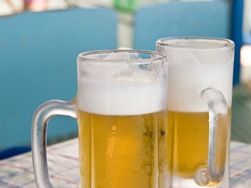 【サービス】湯上りには冷えたビールが最高です