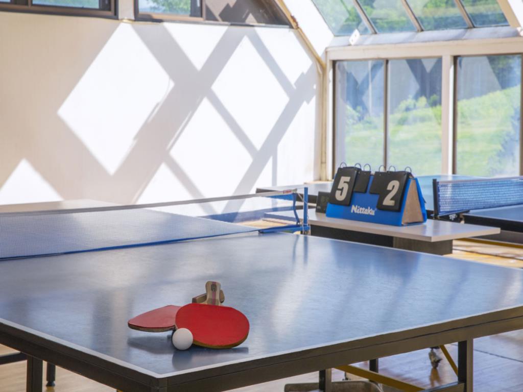 ホロホロ山荘の卓球コーナー