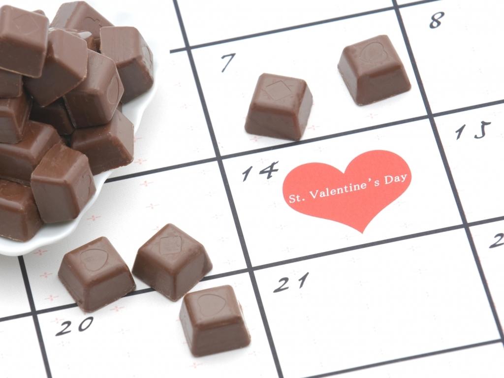 チョコをプレゼント♪※イメージです