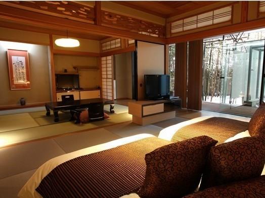 竹林に囲まれた露天風呂付き和室(すずらん・はまなす)