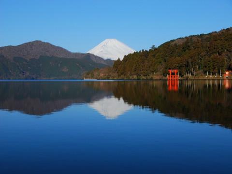 新たしい年の初めに富士山と箱根神社参拝