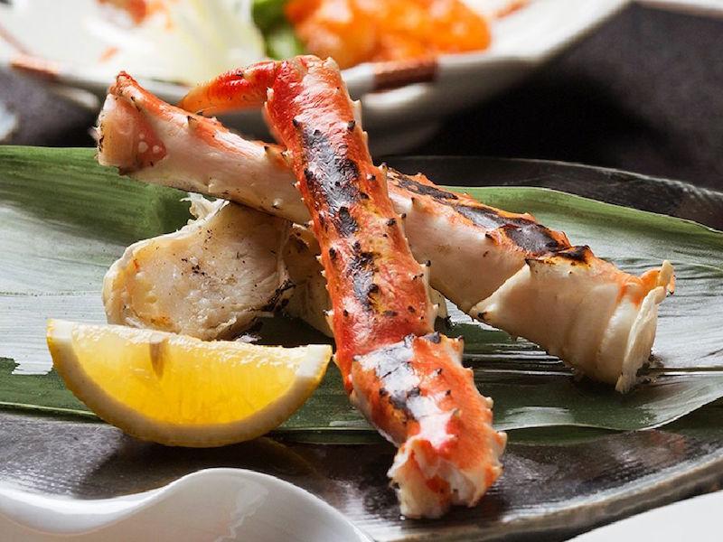 蟹の王様「タラバ蟹」を焼きガニで