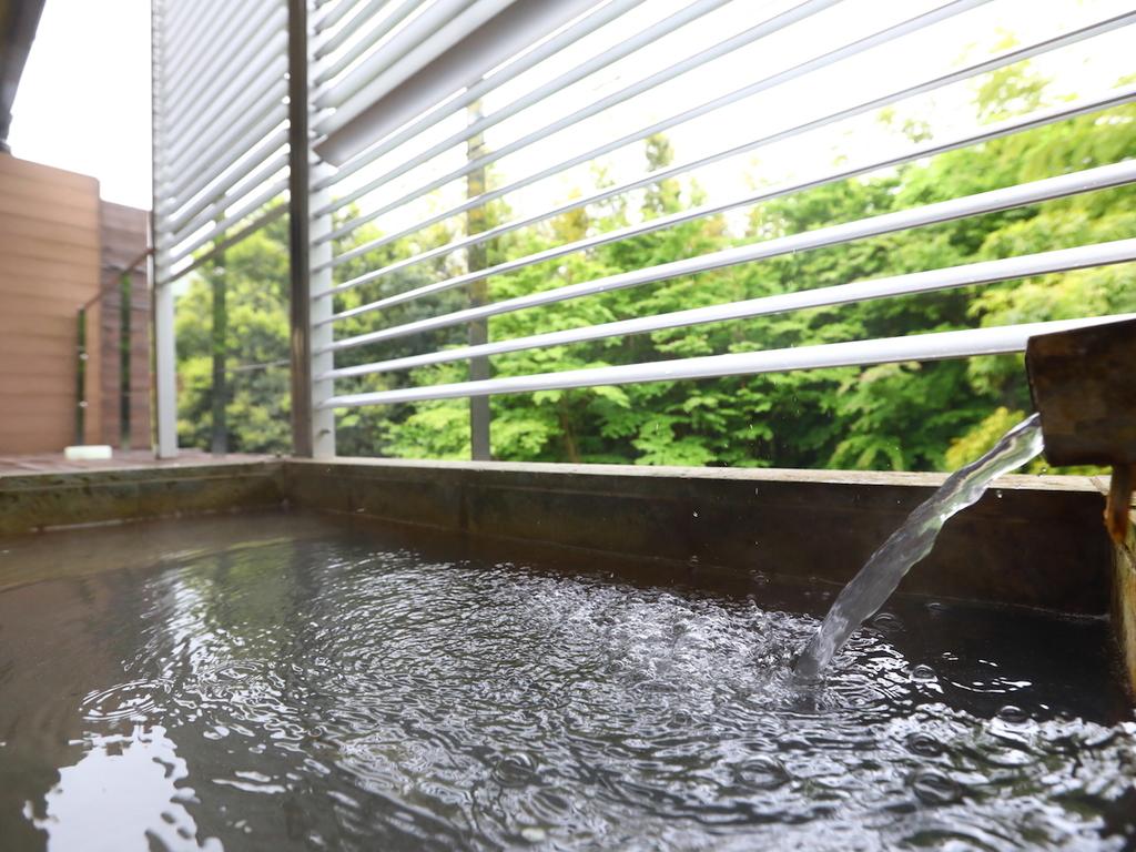 客室露天風呂からの緑