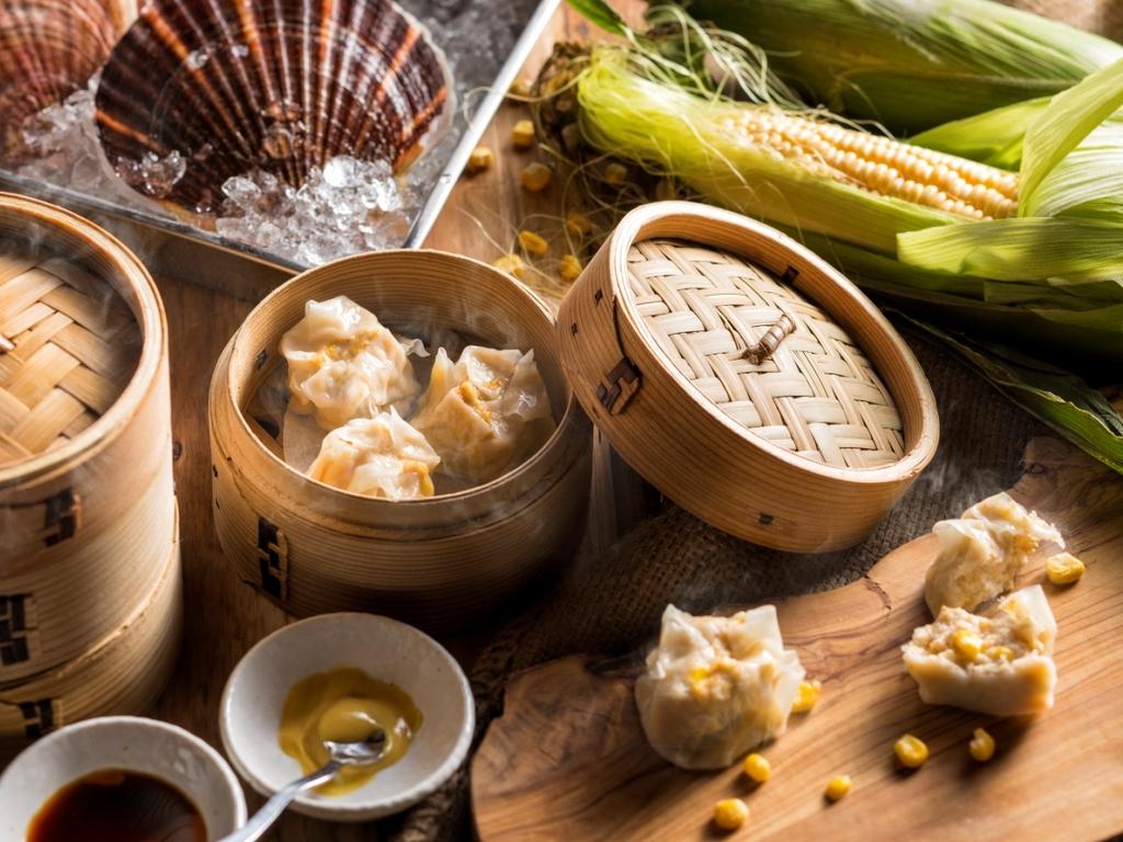 【青函市場・夏の一例】ホタテとカニの海鮮シュウマイ(画像はイメージです)